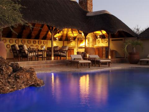 Old Traders Lodge, Erindi Private Game Reserve, Namibië