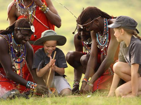 Afrika familie reizen