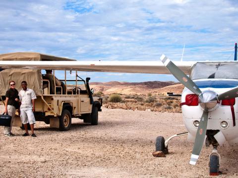 Fly in safari Afrika: Vliegend alles zien